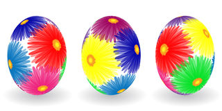 Easter eggs with decor elements Royalty Free Stock Photography