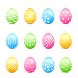 Easter eggs with decor Stock Image