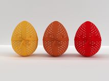 Easter eggs decorated with flower pattern Royalty Free Stock Photos