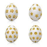 Easter Eggs Decorated with Gold Pattern Royalty Free Stock Image