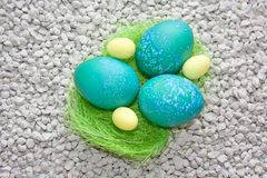 Easter eggs decorated Stock Image
