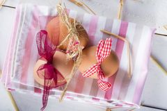 Easter eggs for children to celebrate easter eve royalty free stock image