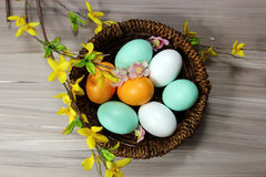 Easter Eggs Decoration Stock Photo