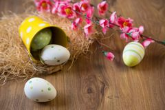 Easter vintage decoration Stock Photos