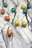 Easter Eggs Decoration Concept oldschool organic paint gift . royalty free stock photography