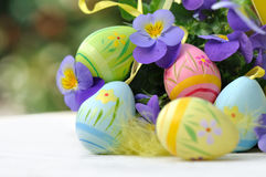 Easter eggs decoration Royalty Free Stock Images
