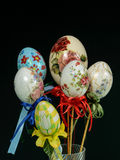 Easter eggs decoration handmade Royalty Free Stock Images