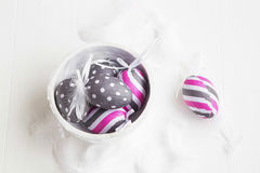 Easter eggs decorations Royalty Free Stock Images