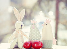 Easter eggs and decorations Stock Images