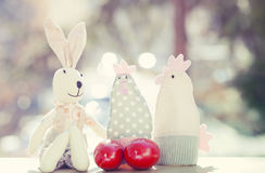 Easter eggs and decorations Stock Photography
