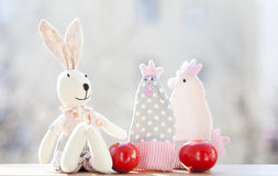 Easter eggs and decorations Stock Image