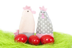 Easter eggs and decorations Stock Photo