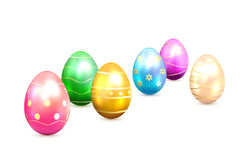 Easter eggs with decorative elements Stock Photos