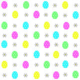 Easter eggs decorative elements in vector for coloring book. Colorful decorative seamless pattern Royalty Free Stock Images