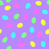 Easter eggs decorative elements in vector for coloring book. Colorful decorative seamless pattern Stock Image