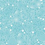 Easter eggs decorative pattern on white background. Happy Easter template with eggs, flowers and leaves. Vector flat royalty free illustration