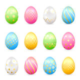 Easter eggs with decorative patterns Royalty Free Stock Photos