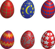 Easter eggs design Royalty Free Stock Photography