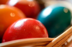 Easter Eggs Detail. A close-up shot of colorful easter eggs. Selective focus Royalty Free Stock Photos