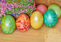 Easter 10. Easter eggs of different colors royalty free stock images