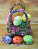 Easter 18. Easter eggs of different colors stock photos