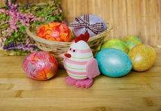 Easter 20. Easter eggs of different colors royalty free stock photos