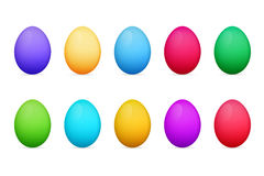 Easter eggs of different colors. Colorful eggs Royalty Free Stock Photos