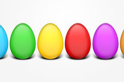 Colorful easter eggs. Easter eggs in different colors on white Stock Image