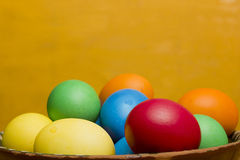 Easter eggs of different colors Royalty Free Stock Images
