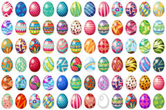 Easter eggs. Different design of easter eggs vector illustration