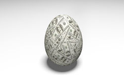 Easter eggs with a dollar banknote Stock Images