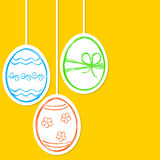 Easter eggs doodle Stock Image