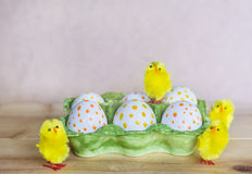 Easter eggs with dots Stock Photo