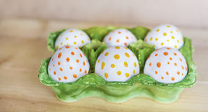 Easter eggs with dots Royalty Free Stock Photography