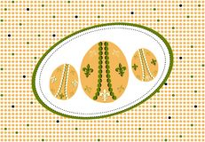 Easter eggs, dots pattern Stock Image
