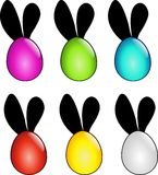 Easter eggs with ears Stock Images