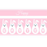 Easter Eggs, Easter Bunny, happy easter sign Stock Photo