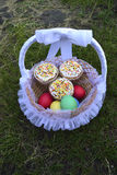 Easter eggs and Easter cakes Stock Photos