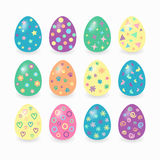 Easter eggs. Easter eggs isolated on white background Stock Images