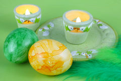Easter eggs and Easter lights Royalty Free Stock Photos