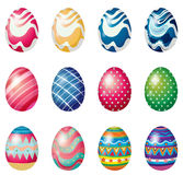 Easter eggs for the easter Sunday egg hunt Stock Photo