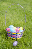 Easter Eggs. Easter egg basket, egg hunt Royalty Free Stock Images