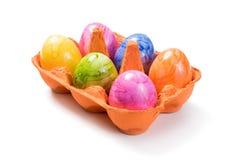 Easter Eggs in Egg Carton Stock Photos