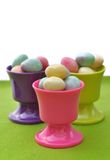 Easter eggs in egg cups Royalty Free Stock Photography