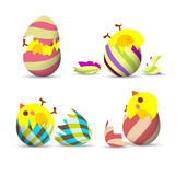 Easter Eggs, eggs hatch Stock Photos