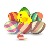 Easter Eggs, eggs hatch Stock Photography
