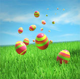 Easter eggs are falling Royalty Free Stock Photos