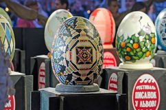Easter eggs at the festival in Lvov Royalty Free Stock Images