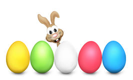 Easter Eggs Festive Colored 3d render Royalty Free Stock Image