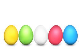 Easter Eggs Festive Colored 3d render Royalty Free Stock Images